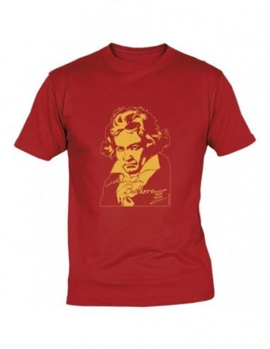 T-Shirt Beethoven Rossa Taglia S