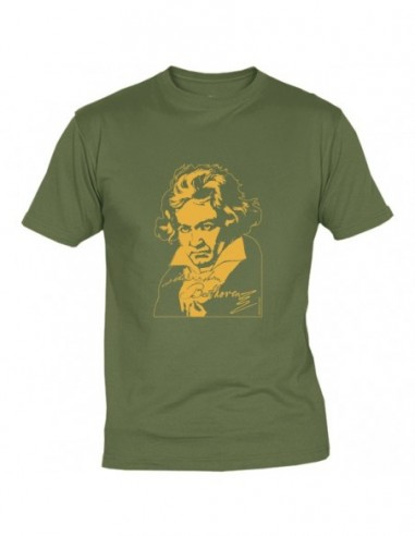 T-Shirt Beethoven Verde Taglia M
