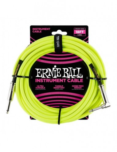 Ernie Ball 6085 Cavo Braided Neon 5,5m